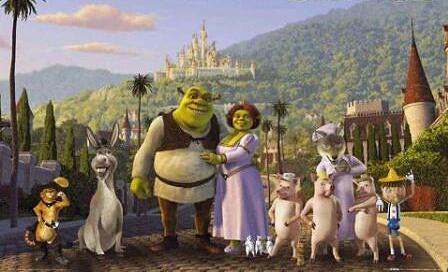 Shrek and friends
